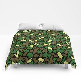 Camouflage Wobble Tile Pattern Comforters