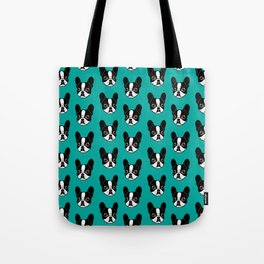 Double Hooded Pied French Bulldog Puppy Tote Bag