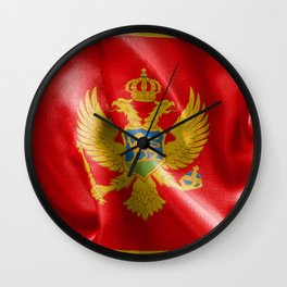 Montenegro Flag Wall Clock