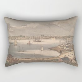 Vintage Pictorial Map of Gloucester MA (1836) Rectangular Pillow