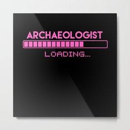 Archaeologist Loading Metal Print