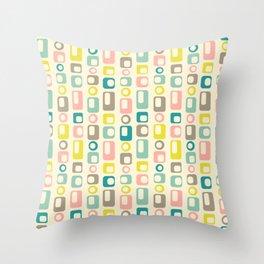 50s Geometric Swag Throw Pillow