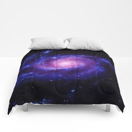 Spiral gAlAxy : Purple Blue Comforters