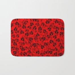 Anarchy (black on red) Bath Mat