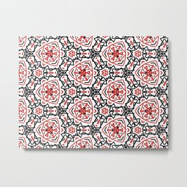 Frenetic from the Black & Red & White All Over Collection Metal Print