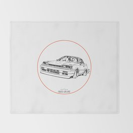 Crazy Car Art 0192 Throw Blanket