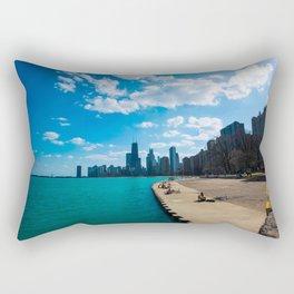 view of chicago Rectangular Pillow