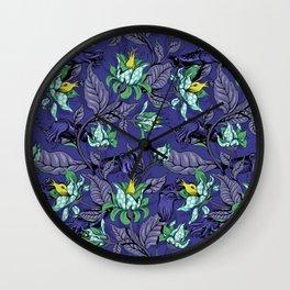 The Sea Garden - deep blue Wall Clock