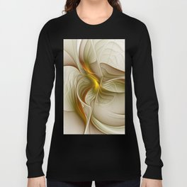 Abstract With Colors Of Precious Metals, Fractal Art Long Sleeve T-shirt