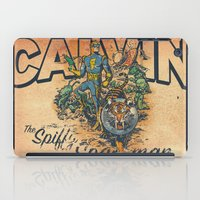 calvin and hobbes iPad Cases featuring Calvin: The Spiffy Spaceman by Captain_RibMan