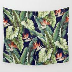 Night tropical garden II Wall Tapestry