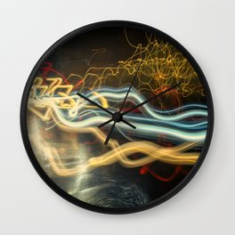 City Gold Light Fantastic Painted Abstract Wall Clock