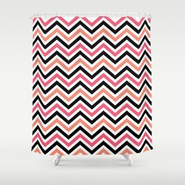 Romantic ZigZag Shower Curtain