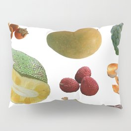 Exotic Fruit Collage Pillow Sham