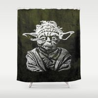 yoda Shower Curtains featuring Yoda by Some_Designs