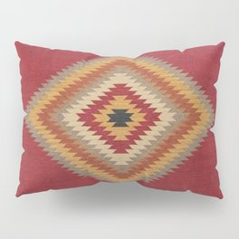 N14 - Red Anthropologie Oriental Moroccan Traditional Artwork. Pillow Sham