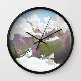 Edelweiss bird Wall Clock