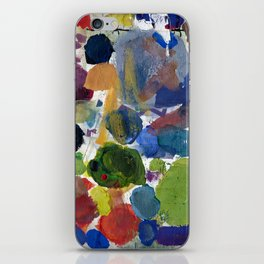 Artist palette with colorful paint spots iPhone Skin
