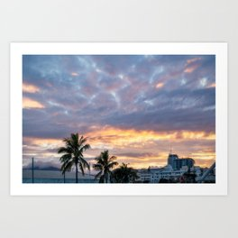 Beautiful Sunrise View in New Caledonia Art Print