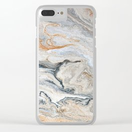 Faux Marble Clear iPhone Case