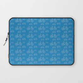 Blue Bike Pattern Laptop Sleeve