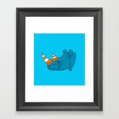 Rhino Video Player Framed Art Print