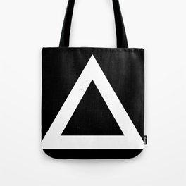 (TRIANGLE) (BLACK & WHITE) Tote Bag