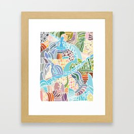 Line Up Framed Art Print