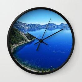 Deep Blue Wall Clock