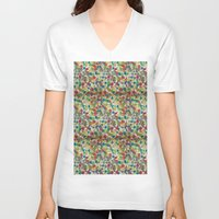 dots V-neck T-shirts featuring Dots by czossi