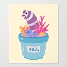 Eel flower pot 2 Canvas Print