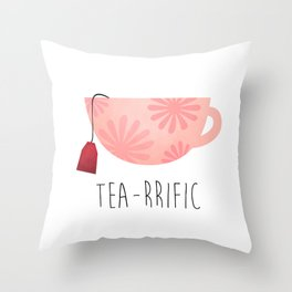 Tea-rrific Throw Pillow