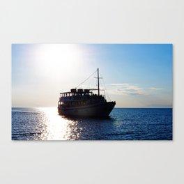 Peraia water taxi Canvas Print