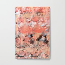 11.3: A bright abstract contemporary design in pinks black and white by Alyssa Hamilton Art  Metal Print