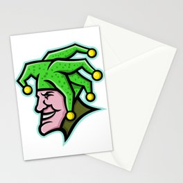 Harlequin Head Side Mascot Stationery Cards