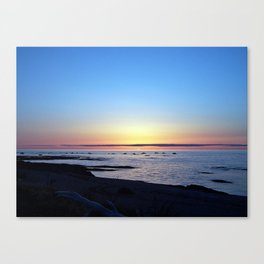 Sun Sets up the River, Across the Sea Canvas Print