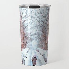 Wintery Walk in Beacon Hill Travel Mug