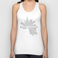 melbourne Tank Tops featuring Melbourne Map by Shirt Urbanization