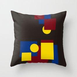 Modern geometric abstract 5 Throw Pillow