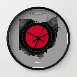 OHIO 33⅓ rpm LP Record Wall Clock