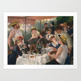 Luncheon of the Boating Party Painting, Pierre-Auguste Renoir Art Print