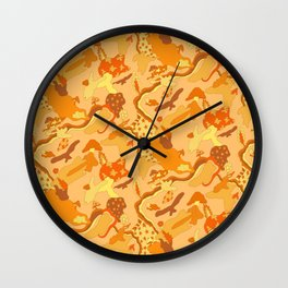 romp in the clouds Wall Clock