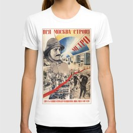 Vintage poster - Soviet Metro T-shirt