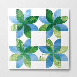 Biomandala Metal Print