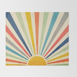 Sun Retro Art III Throw Blanket
