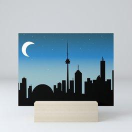 Toronto Skyline - Night Mini Art Print