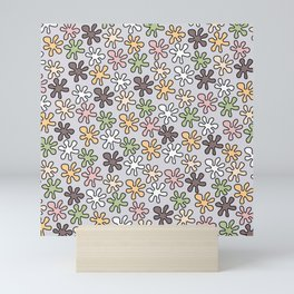 Hippie pattern -Lilac Mini Art Print