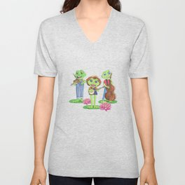 The Boggy Froggies Bluegrass Band Unisex V-Neck