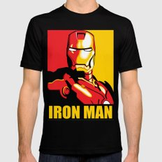 Iron Man Black LARGE Mens Fitted Tee