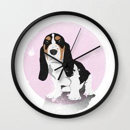 Sad Puppy Wall Clock